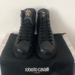 Roberto Cavalli high top sneaker